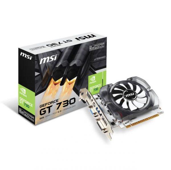 MSI NVIDIA GeForce GT 730 2GB DDR3 VGA/DVI/HDMI PCI-Express Video Card