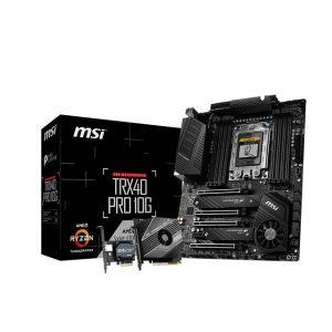 MSI TRX40 PRO 10G Socket sTRX4/ AMD TRX40/ DDR4/ 3-Way CrossFire & 3-Way SLI/ SATA3&USB3.2/ M.2/ ATX Motherboard