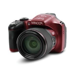 Minolta MN67Z-R MN67Z 20.0-Megapixel 1080p Full HD 67x Optical Zoom Wi-Fi Bridge Camera (Red)