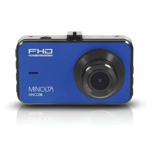 Minolta MNCD36-BL MNCD36 1080p Full HD Dash Camera with 3-Inch LCD Screen (Blue)