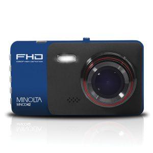 Minolta MNCD42-BL MNCD42 1080p Full HD Dash Camera with 4-Inch LCD Screen (Blue)