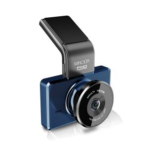 Minolta MNCD60-BL MNCD60 1080p Full HD ADAS Dash Camera with 3-Inch LCD Screen (Blue)