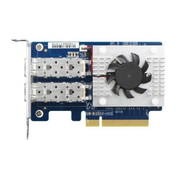 QNAP QXG-10G2SF-CX4 Dual-Port SFP+ 10GBE (PCIE 3.0 x8) Network Expansion Card