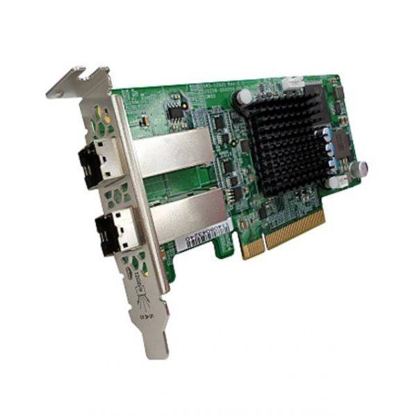 QNAP SAS-12G2E Dual-Port SAS 12Gbps Storage Expansion Card for Rackmount Models
