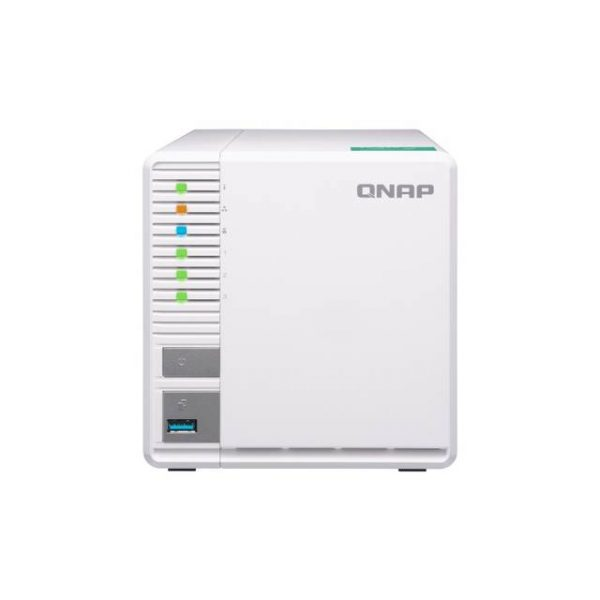 QNAP TS-328-US Realtek ARM Cortex-A53 RTD 1296 1.4GHz/ 2GB RAM/ 2GbE/ 3SATA3/ USB3.0/ 3-Bay Personal Cloud NAS for Home & SOHO