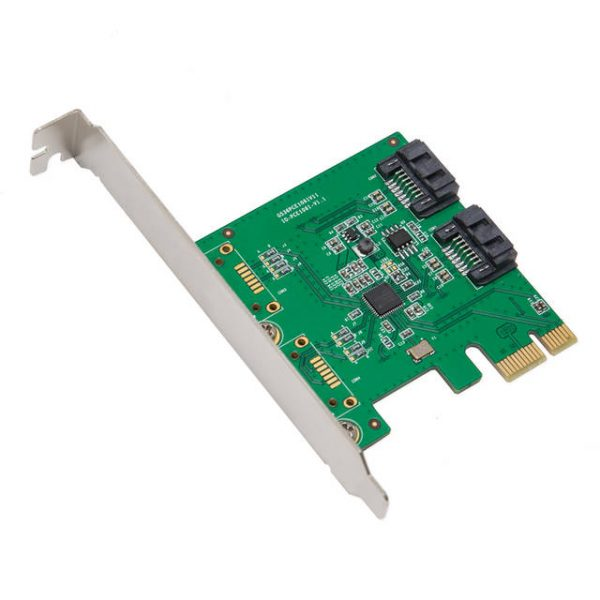 SYBA SY-PEX40039 2-Port SATA3 PCI-Express x1 Controller Card