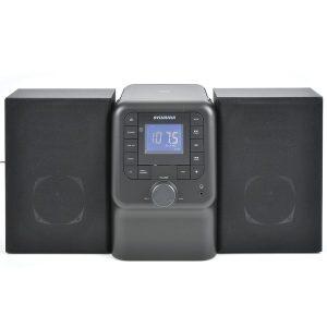 SYLVANIA SRCD2732BT-BLACK Bluetooth Micro System with FM Radio and CD Player (Black)