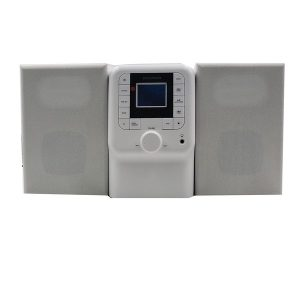 SYLVANIA SRCD2732BT-WHITE Bluetooth Micro System with FM Radio and CD Player (White)