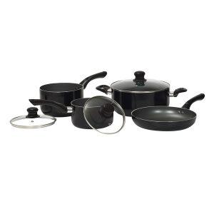 Starfrit 034402-001-SBA2 Starbasix Non-Stick Aluminum 7-Piece Cookware Set