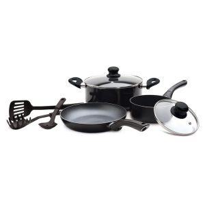 Starfrit 034427-001-0000 Starbasix Non-Stick Aluminum 8-Piece Cookware Set