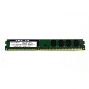 Super Talent DDR3-1333 2GB/256Mx8 CL9 Hynix Chip Very Low Profile Memory