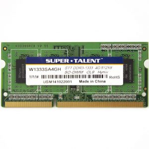 Super Talent DDR3-1333 SODIMM 4GB/512Mx8 CL9 Hynix Chip Notebook Memory