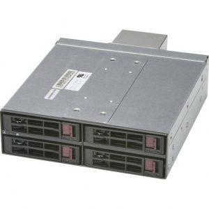 "Supermicro CSE-M14TQC SAS3/SATA3 Mobile Rack for 4x 2.5"" HDD w/ Fan Module (Black)"