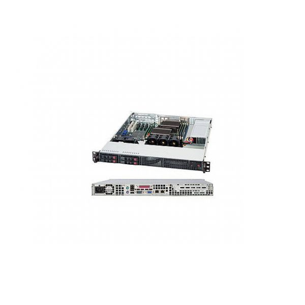 Supermicro SuperChassis CSE-111TQ-600CB 600W 1U Rackmount Server Chassis (Black)