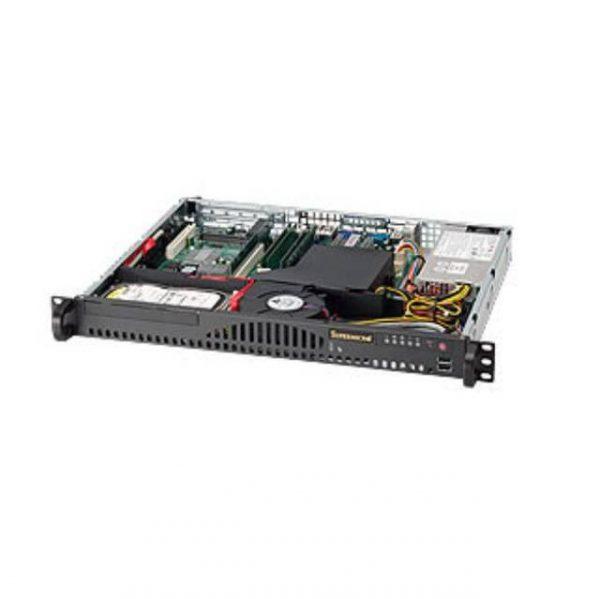 Supermicro SuperChassis CSE-512-203B 200W Mini 1U Rackmount Server Chassis (Black)
