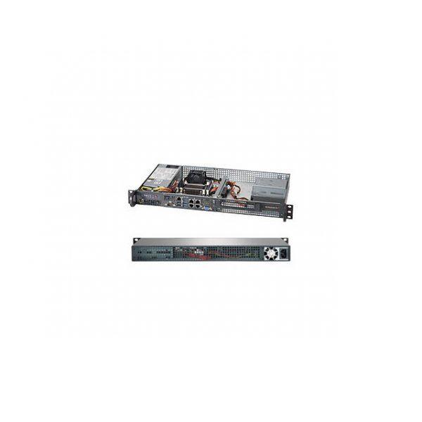 Supermicro SuperServer SYS-5018A-FTN4 Intel Atom C2758 200W 1U Rackmount Server Barebone System (Black)