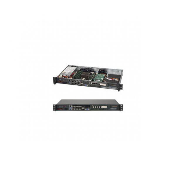 Supermicro SuperServer SYS-5018D-FN8T Intel Xeon D-1518 200W 1U Rackmount Server Barebone System (Black)