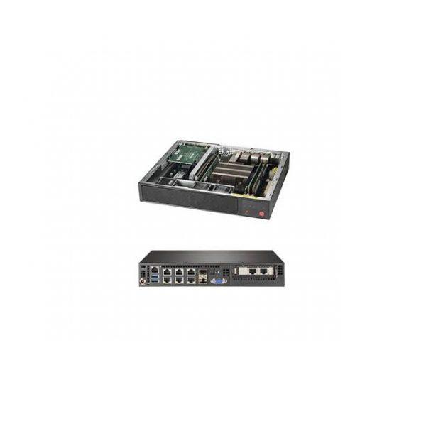 Supermicro SuperServer SYS-E300-9D-8CN8TP Intel Xeon D-2146NT Compact Server Barebone System (Black)