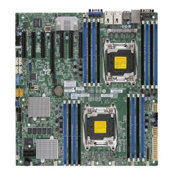 Supermicro X10DRH-CT-B Dual LGA2011/ Intel C612/ DDR4/ SATA3&SAS3&USB3.0/ V&2GbE/ EATX Server Motherboard