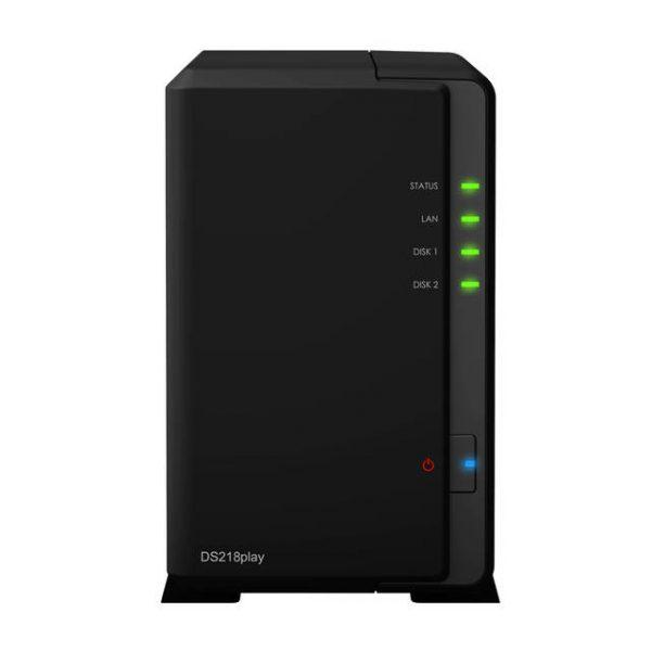 Synology DiskStation DS218PLAY 2-Bay Desktop NAS for Home & SOHO