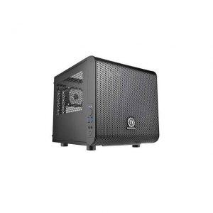 Thermaltake Core V1 CA-1B8-00S1WN-00 No Power Supply Mini-ITX Cube Case (Black)