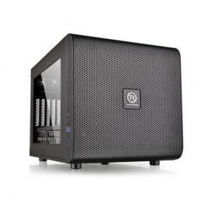 Thermaltake Core V21 CA-1D5-00S1WN-00 No Power Supply MicroATX Cube Case (Black)