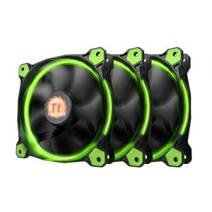 Thermaltake Riing 120mm Green LED Case Fan (3 fans pack)