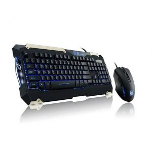 Thermaltake Tt eSPORTS KB-CMC-PLBLUS-01 USB Wired Commander Gaming Gear Keyboard & Mouse Combo