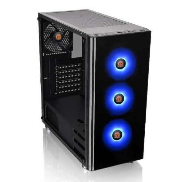 Thermaltake V200 Tempered Glass RGB Edition CA-1K8-00M1WN-01 No Power Supply ATX Mid Tower (Black)