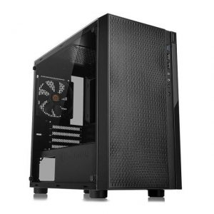 Thermaltake Versa H18 Tempered Glass Edition CA-1J4-00S1WN-01 No Power Supply MicroATX Case (Black)
