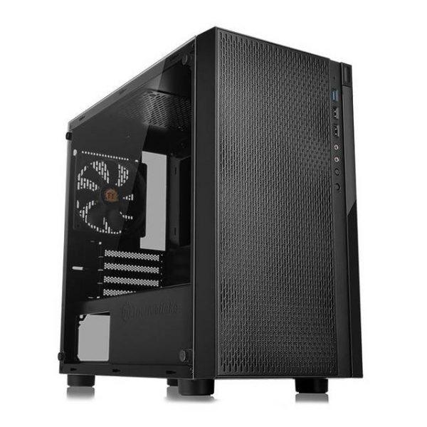 Thermaltake Versa H18 Tempered Glass Edition CA-1J4-00S1WN-01 No Power Supply MicroATX Case (Black)