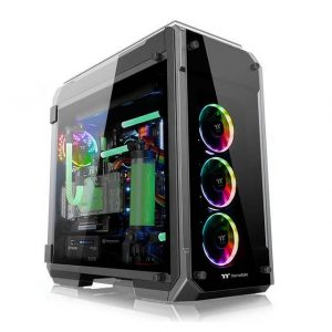 Thermaltake View 71 Tempered Glass RGB Edition CA-1I7-00F1WN-01 No Power Supply ATX Full Tower (Black)