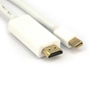 VCOM CG681-6.6FEET-WHITE 6.6ft DisplayPort Male to Mini DisplayPort Male Cable (White)