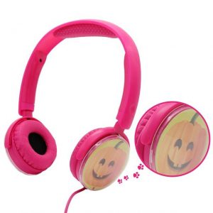 VCOM Kids Headphones with Microphone Earphone for Toddler Tablet School Boys/Girls DE126 Pink