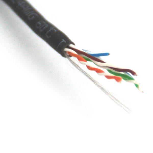 VCOM NC514-1000-BLACK 1000ft Cat5e Solid UTP Cable (Black)