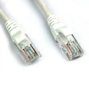 VCOM NP511-200-WHITE 200ft Cat5e UTP Molded Patch Cable (White)