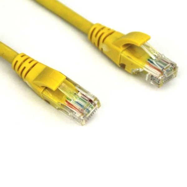VCOM NP511-5-YELLOW 5ft Cat5e UTP Molded Patch Cable (Yellow)
