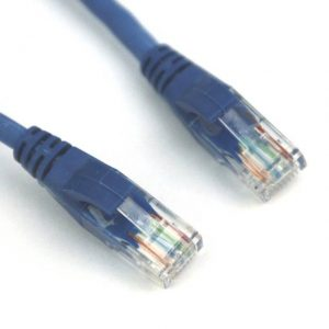 VCOM NP511-7-BLUE 7ft Cat5e UTP Molded Patch Cable (Blue)
