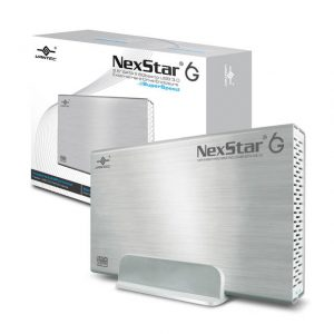 Vantec NexStar 6G NST-366S3-SV 3.5 inch SATA3 to USB 3.0 External Hard Drive Enclosure (Silver)