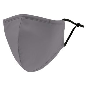 Weddingstar 5510-77 Adult Reusable/Washable Cloth Face Mask with Filter Pocket (Gray)