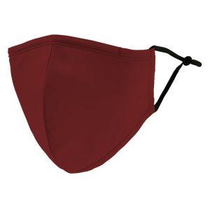 Weddingstar 5510-91 Adult Reusable/Washable Cloth Face Mask with Filter Pocket (Dark Red)
