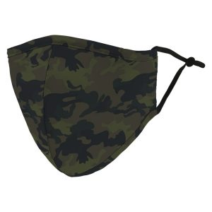 Weddingstar 5525-84 Adult Reusable/Washable Cloth Face Mask with Filter Pocket (Camo)