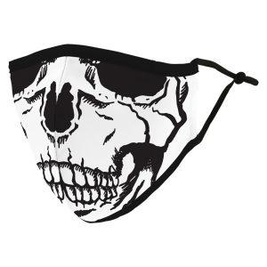 Weddingstar 5531-10 Adult Reusable/Washable Cloth Face Mask with Filter Pocket (Skull)