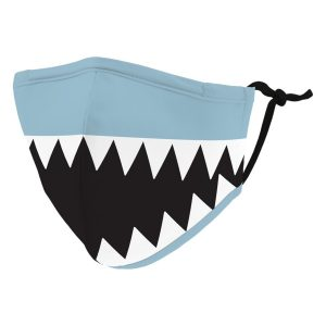 Weddingstar 5541-11 Kid's Reusable/Washable Cloth Face Mask with Filter Pocket (Shark Tooth)