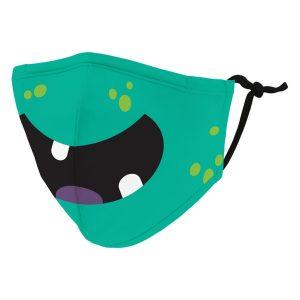 Weddingstar 5542-03 Kid's Reusable/Washable Cloth Face Mask with Filter Pocket (Little Green Monster)
