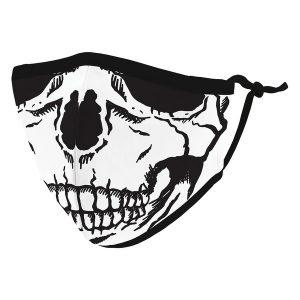 Weddingstar 5547-10 Kid's Reusable/Washable Cloth Face Mask with Filter Pocket (Skull)