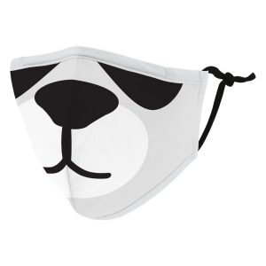 Weddingstar 5552-10 Kid's Reusable/Washable Cloth Face Mask with Filter Pocket (Panda)
