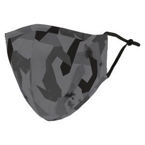 Weddingstar 5571-77 Adult Reusable/Washable Cloth Face Mask with Filter Pocket (Modern Black Camo)