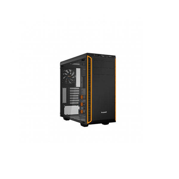 be quiet! Pure Base 600 No Power Supply ATX Mid Tower w/ Window (Orange)