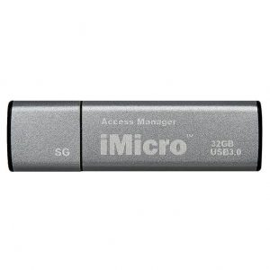 iMicro USB 3.0 Password Protection Flash Drive Sliver Grade 32GB (Silver Grey)
